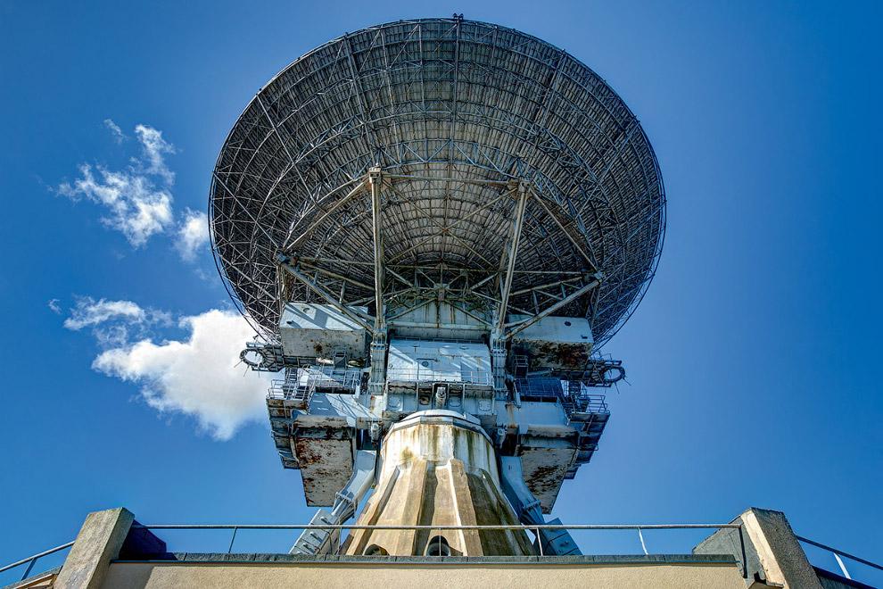 Радиотелескоп и шпионский центр в Ирбене, Латвия