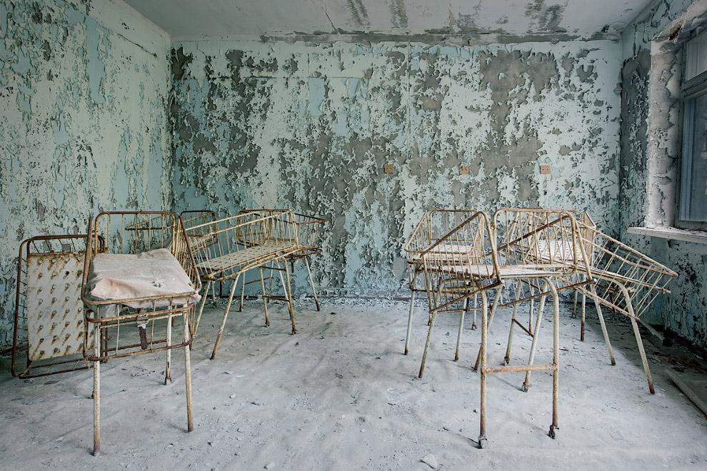 Госпиталь в заброшенном городе Припять, Украина
