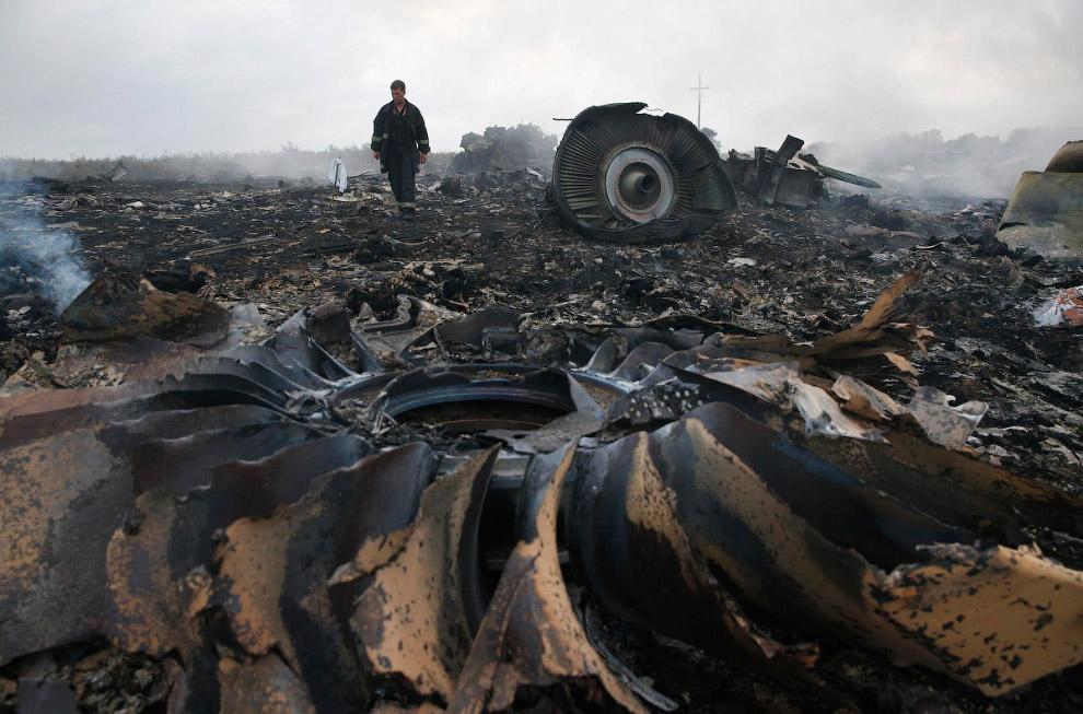 Под Донецком был сбит самолет