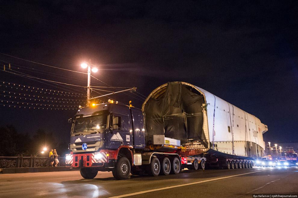 Как перевозили Буран на ВДНХ