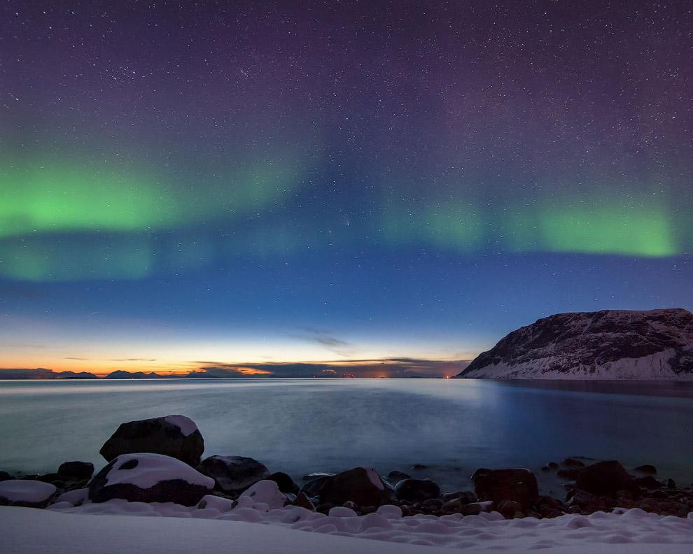 Северное сияние и непериодическая околосолнечная комета PANSTARRS