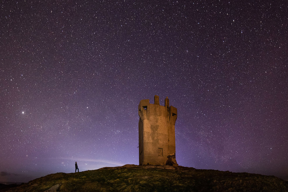 Звездное небо над Малин-Хед — небольшим рыбацким поселком