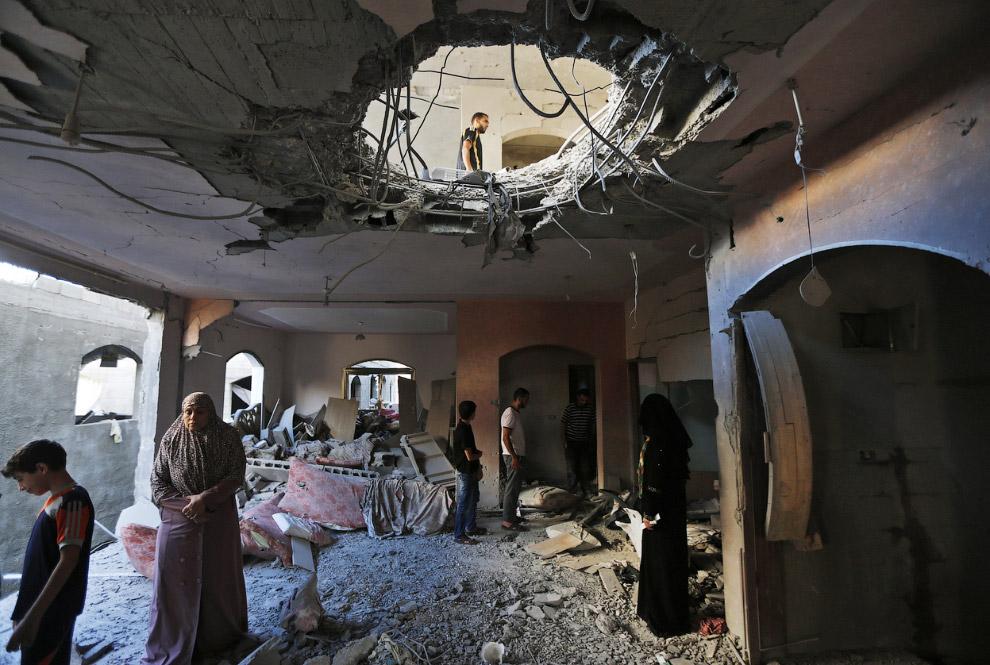 Разрушенный дом в Бейт-Лахии, сектор Газа
