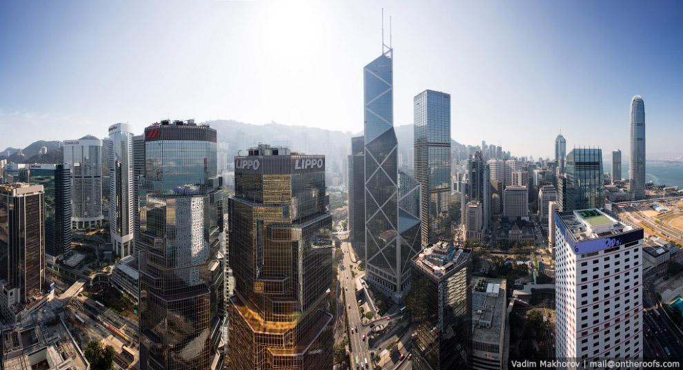 Панорама центра Гонконга