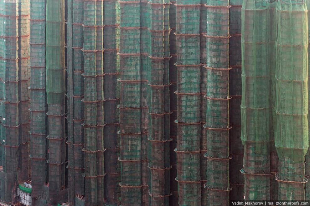 Так выглядят стройки в Гонконге