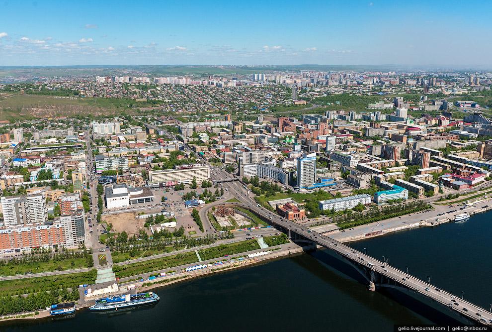 Театральная площадь — центр Красноярска