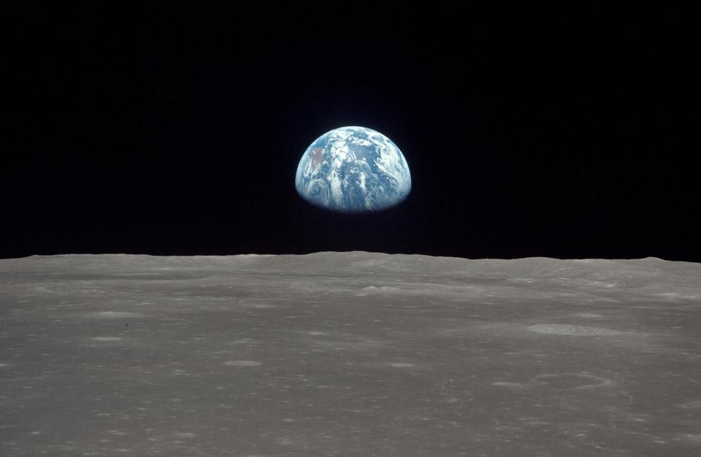 Земля за горизонтом Луны