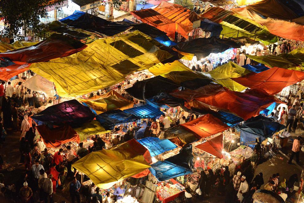 Рынок в старой части города Хайдарабада