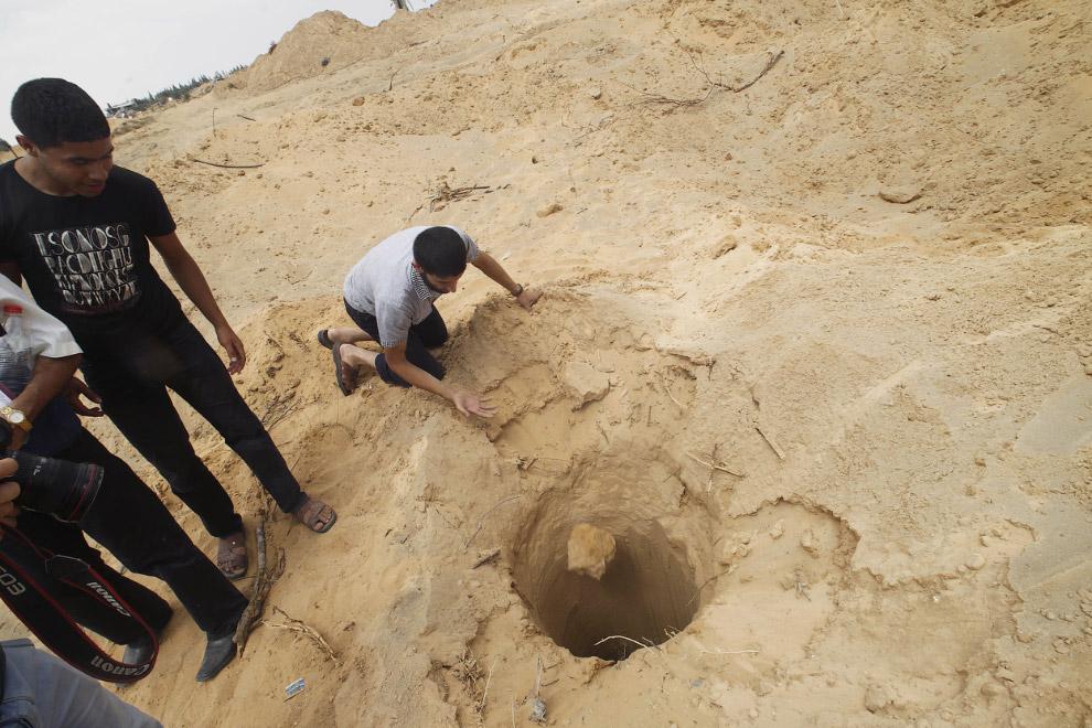 Один из тех самых туннелей, ведущих из сектора Газа в Израиль