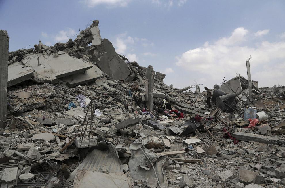 Спустя ровно месяц с момента начала операции «Нерушимая скала» некоторые районы города Газа выглядят вот так