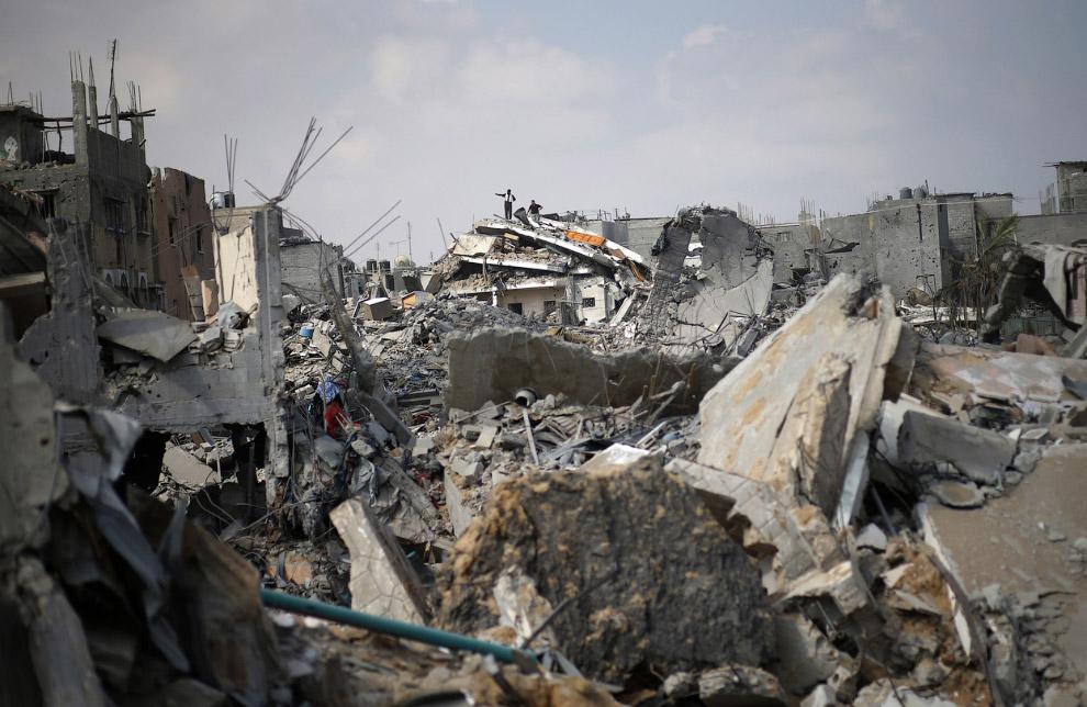 Руины квартала на востоке города Газа