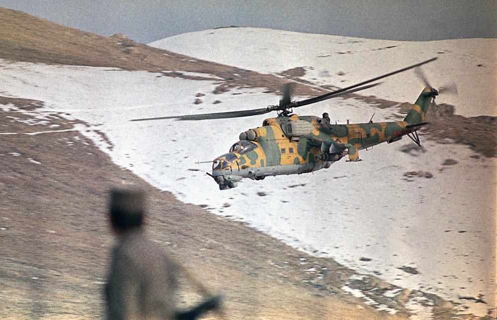 Афганский боевой вертолет
