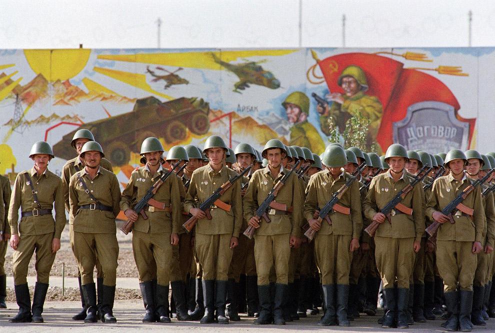 Советские солдаты в центре Кабула