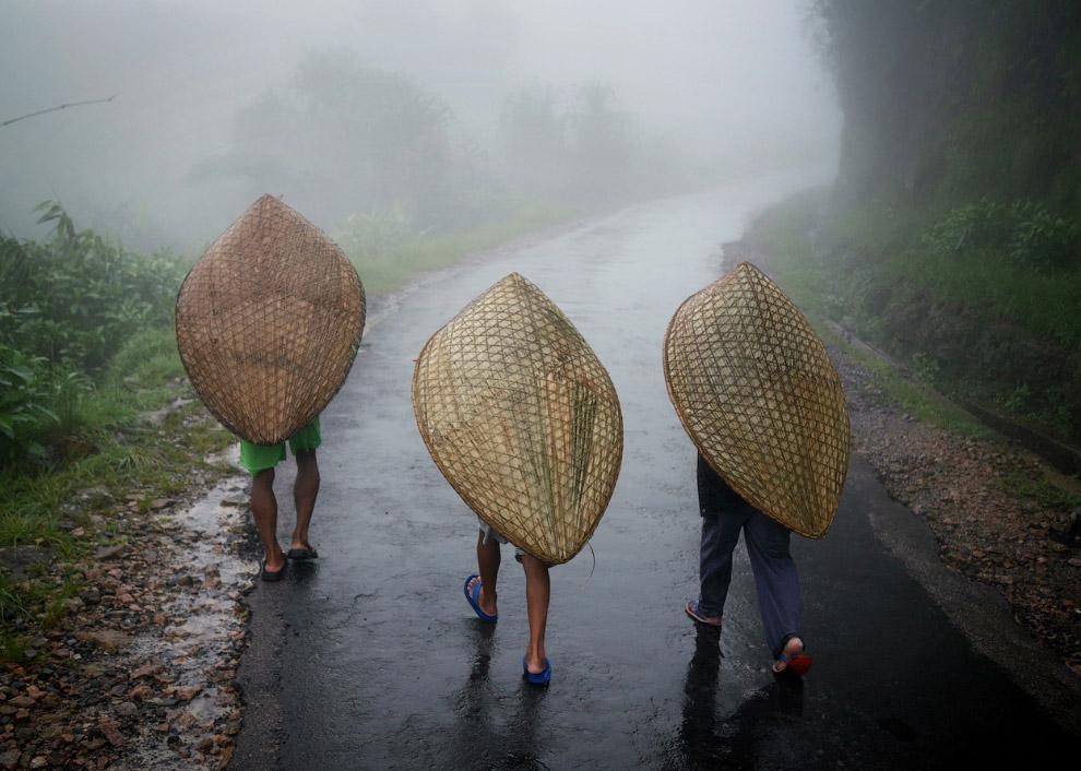 Это не лодки, это «зонтики». Изготовлены они из бамбука и листьев банана