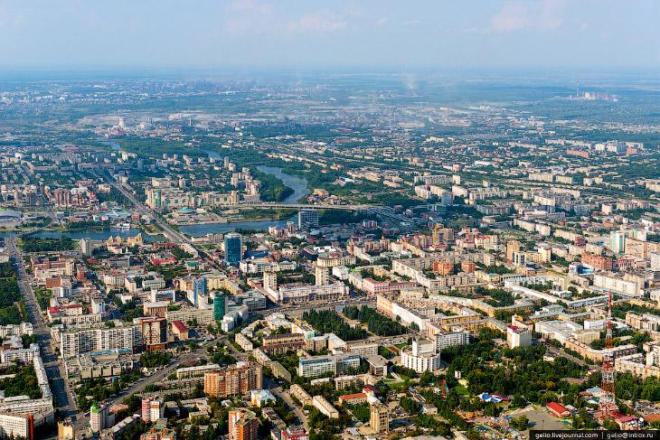 Суровый Челябинск с высоты
