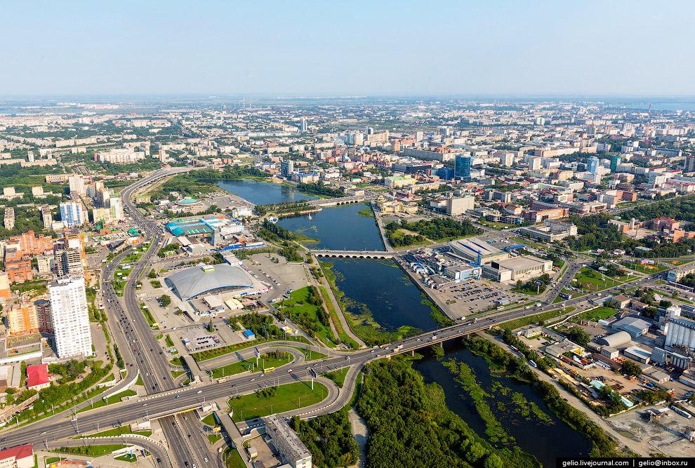 Город стоит на реке Миасс