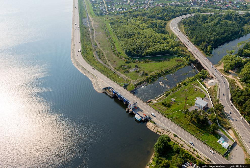 Дамба Шершневского водохранилища