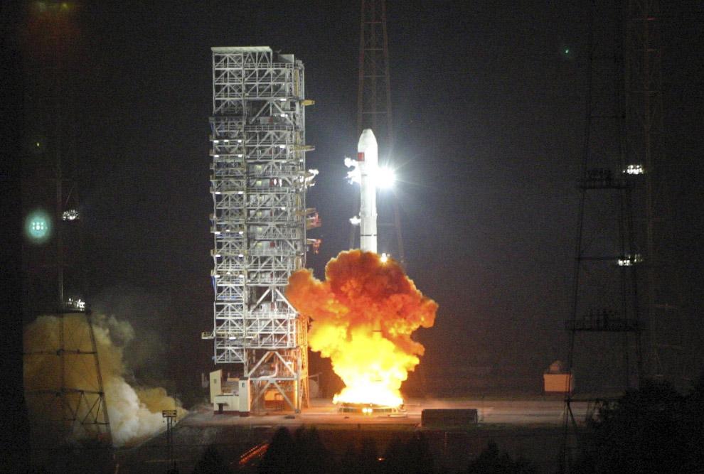 Старт ракеты «Великий поход»