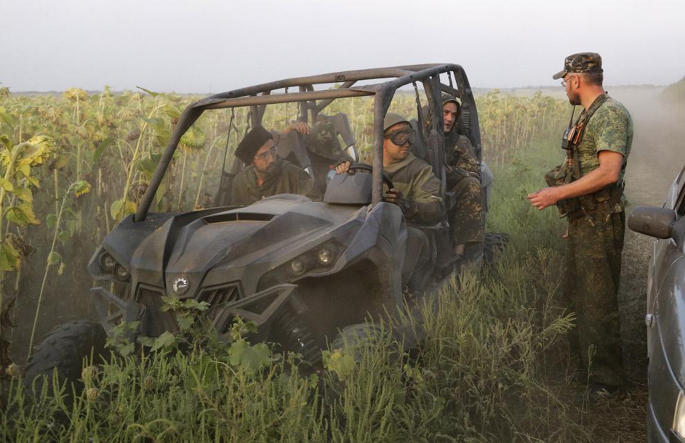 Повстанцы в села Хрящеватое Луганской области