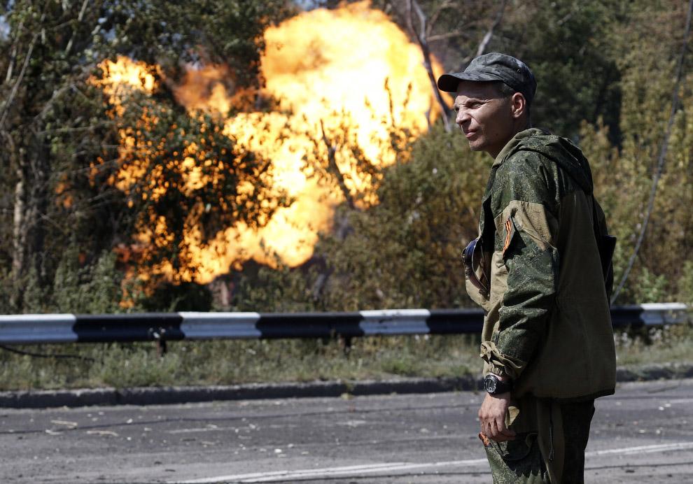 После обстрела в Донецке вспыхнул газопровод