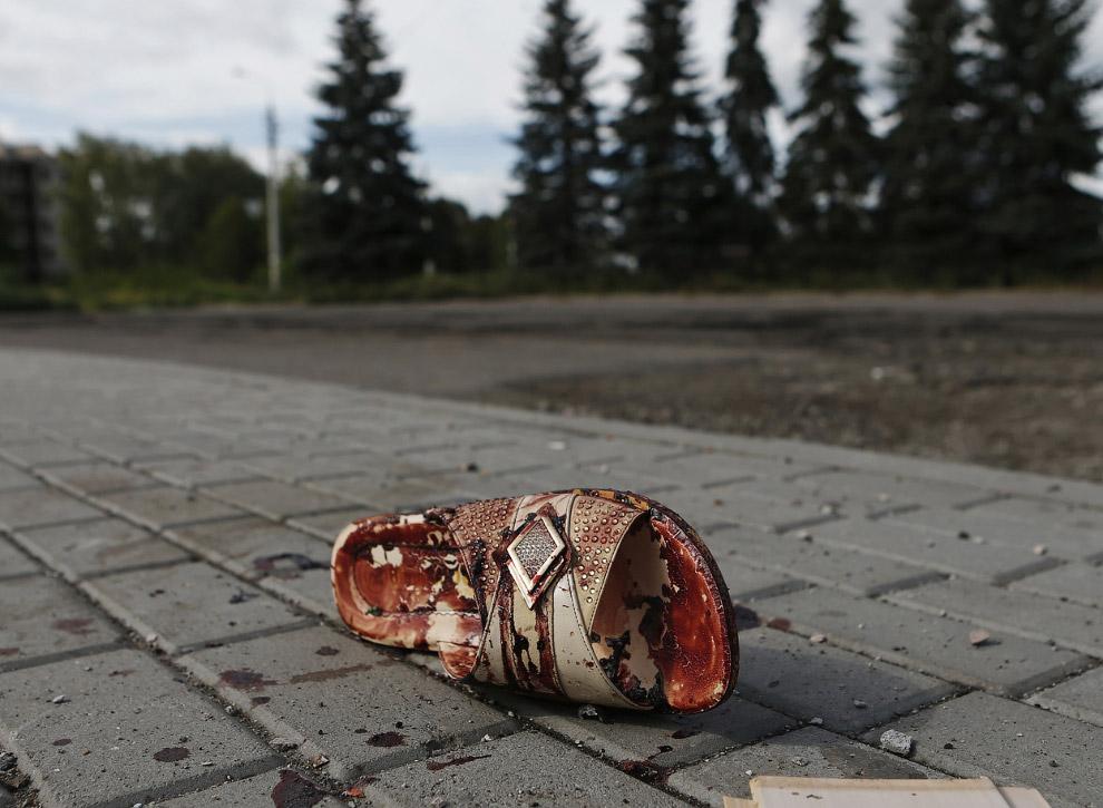 После артобстрела в Макеевке
