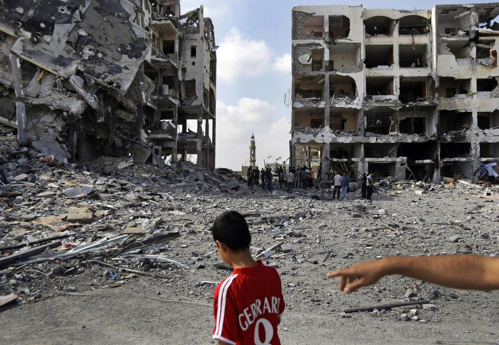 Вспышки над городом Газа