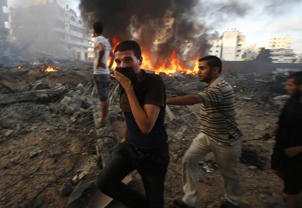 Удар по городу Газа