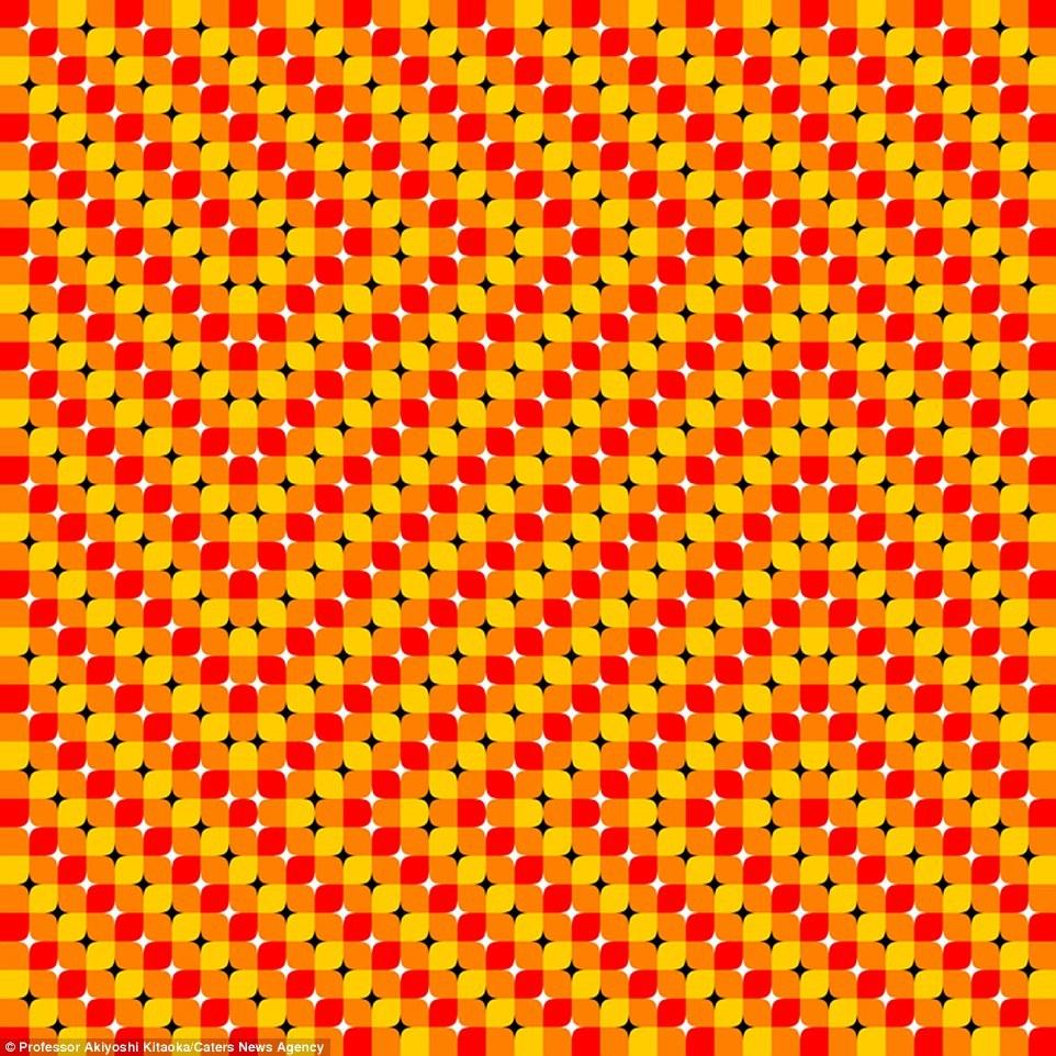 В середине этой иллюзии – квадрат, который, кажется, движется