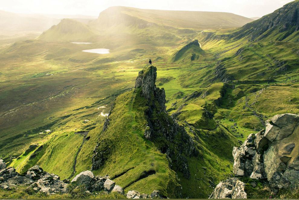 Горный хребет в Шотландии