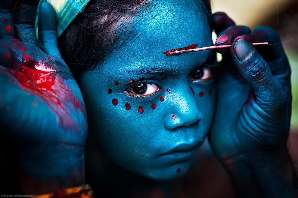 Фестиваль в индийской деревне
