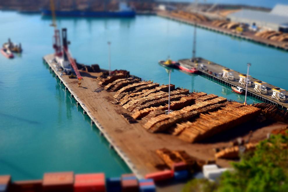 Порт в Новой Зеландии