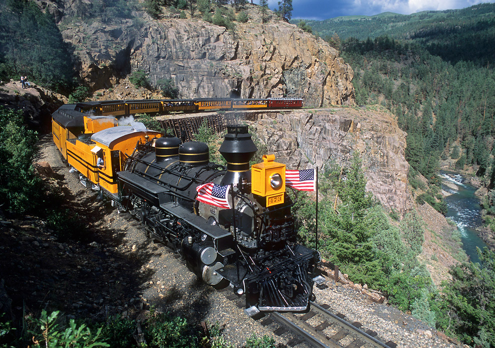 Durango and Silverton Narrow Gauge Railroad (Колорадо, США)