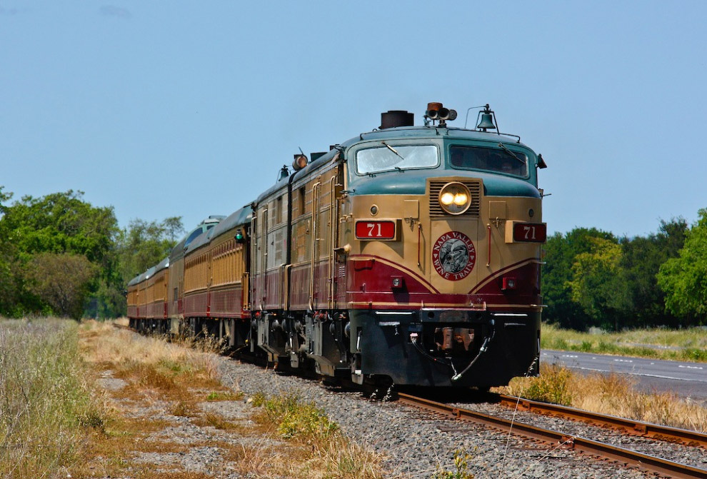 Napa Valley Wine Train (Калифорния, США)
