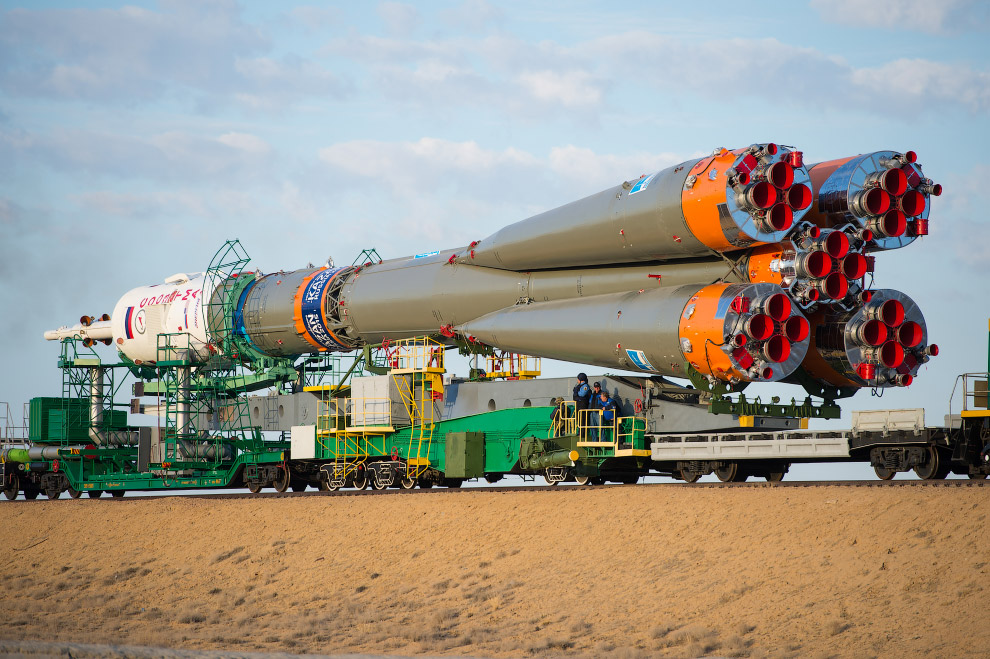 Старт космического корабля «Союз ТМА-14М»