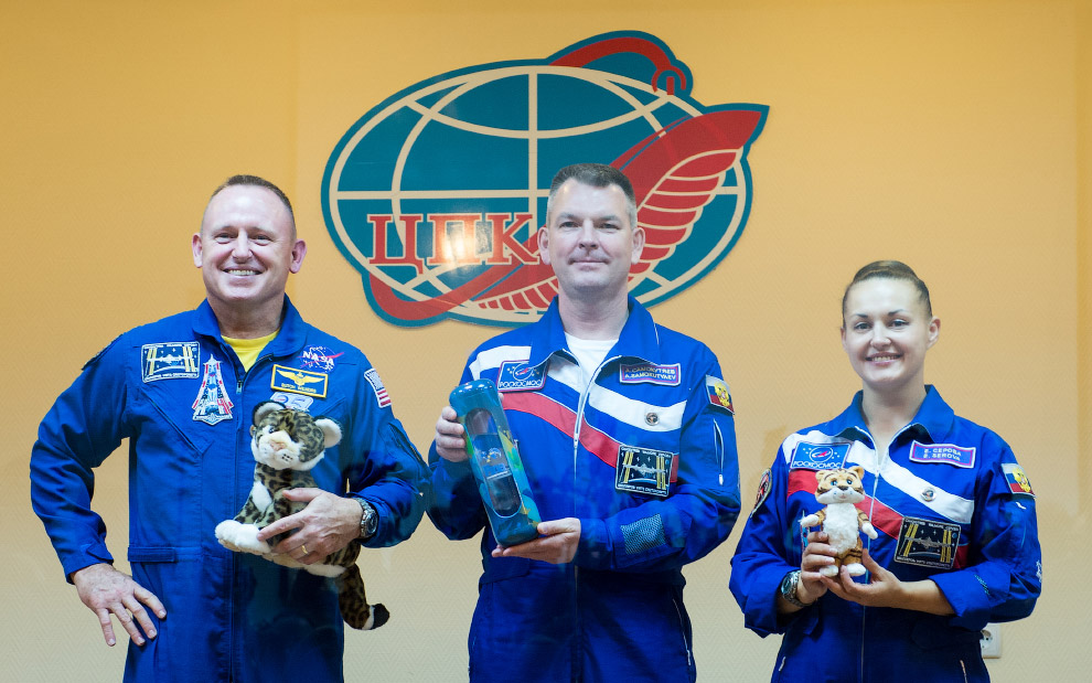 Традиционная пресс-конференция космонавтов, Байконур, 24 сентября 2014