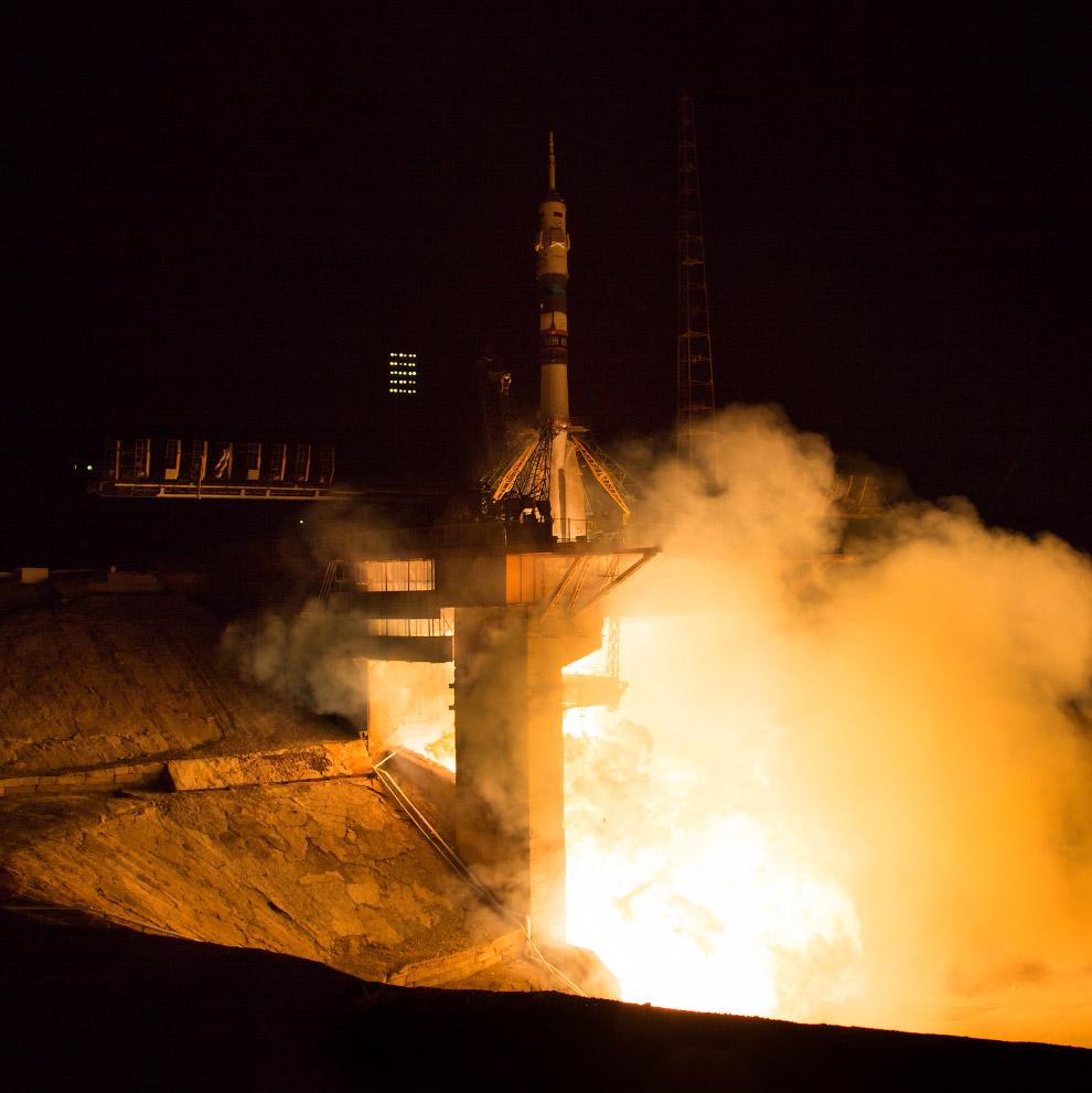 Старт космического корабля «Союз TMA-14М» с Байконура, 26 сентября в 00:25 по Москве