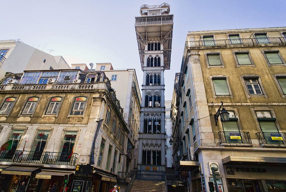 Лифт Санта Жушта, Лиссабон, Португалия