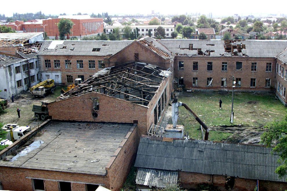 Школа №1 после теракта в Беслане