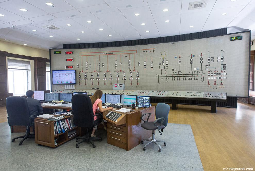 Центральный пункт управления Саяно-Шушенской ГЭС