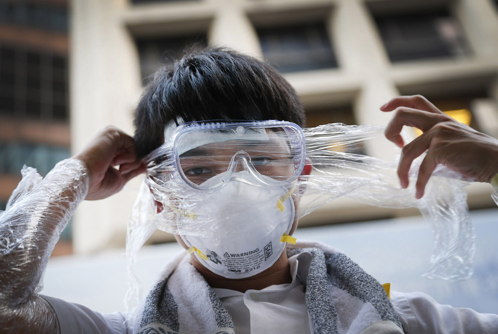Самодельные маски от слезоточивого газа