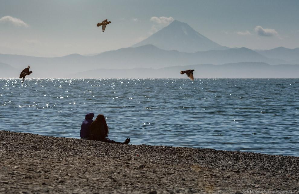 Пляж на набережной Петропавловск-Камчатского