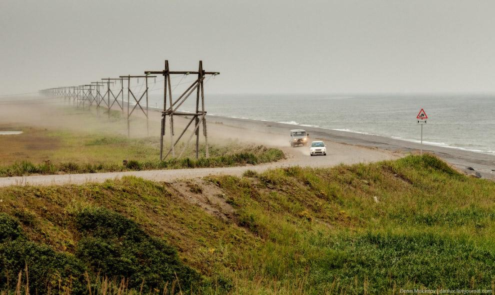Берег Охотского моря, дорога в Октябрьский