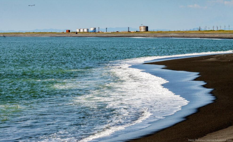Пляж Тихого океана возле Усть-Камчатска