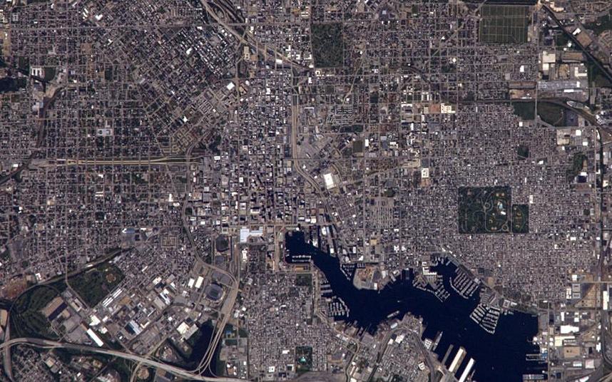 Городская сетка Балтимора в США