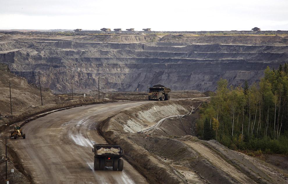 Нефтеносные пески Канады