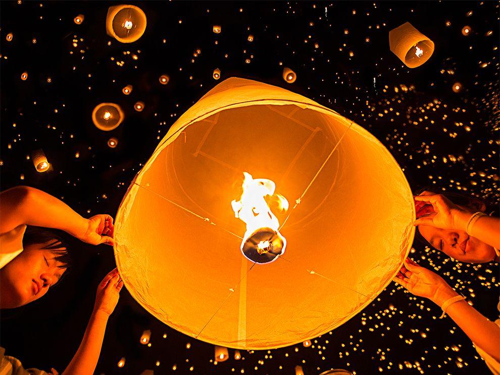 Небесные фонарики в Таиланде