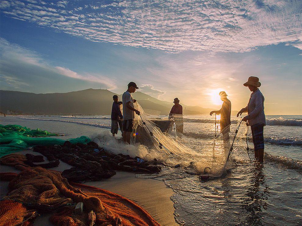 Рыбаки в Дананге, Вьетнам