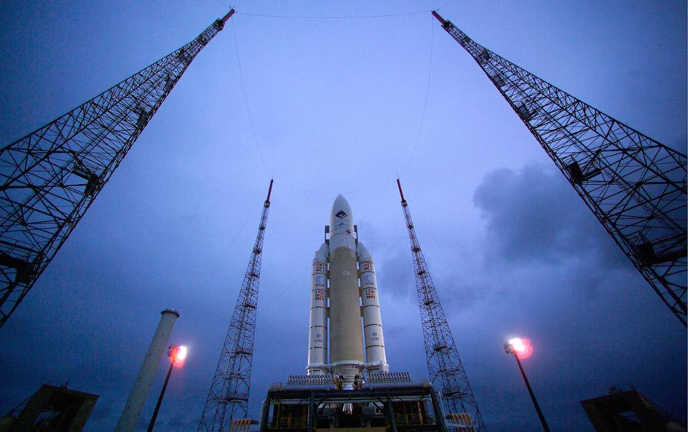 Ракето-носитель «Ариан-5», который выводил Розетту в космос