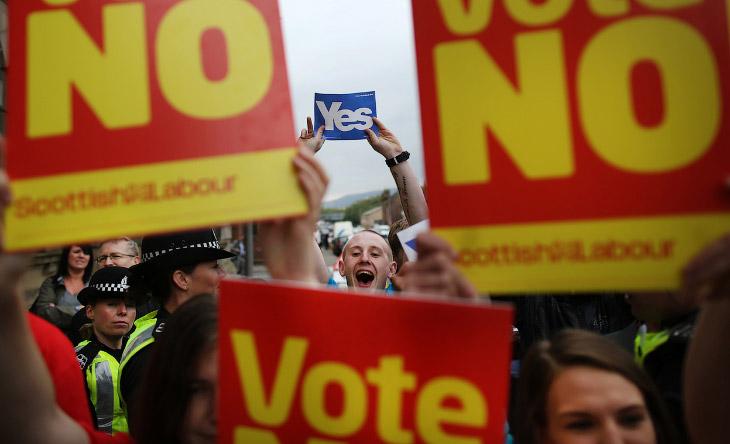 Митинг сторонников единой Великобритании в Глазго, Шотландия