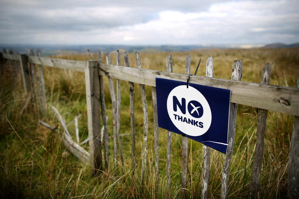 «Нет» на заборе на границе с Англией